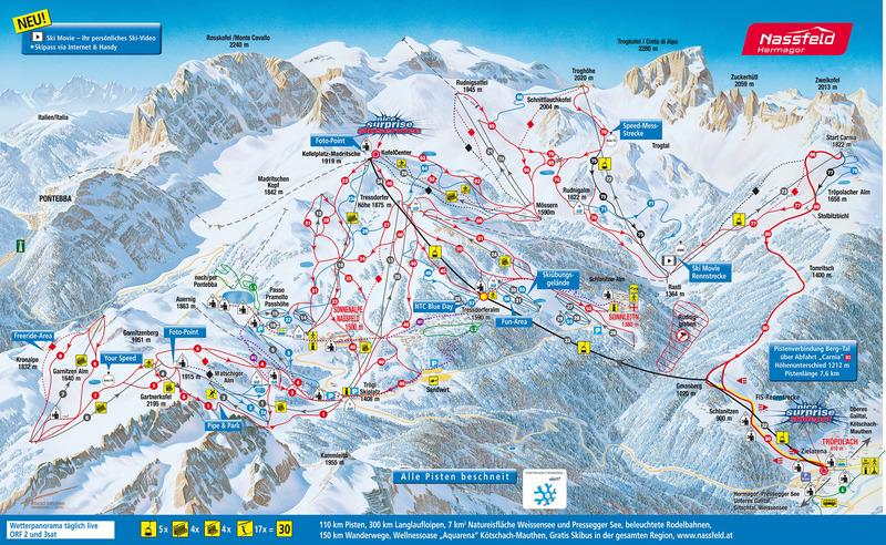 ausztria látnivalók térkép Nassfeld programok, Nassfeld, látnivalók :: ÚtiSúgó.hu Nassfeld ausztria látnivalók térkép
